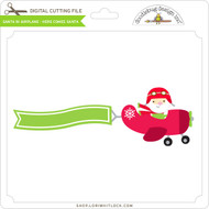 Santa in Airplane - Here Comes Santa