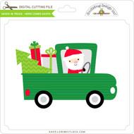 Santa in Truck - Here Comes Santa