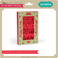 3D Card Merry Christmas