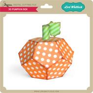 3D Pumpkin Box