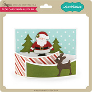 Flexi Card Santa Rudolph