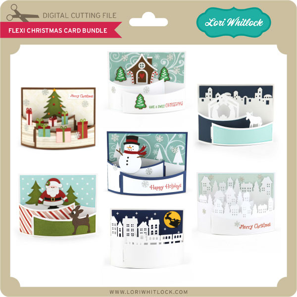 Flexi Christmas Card Bundle Lori Whitlock S Svg Shop