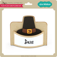 Flexi Place Card Pilgrim Hat