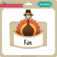 Flexi Place Card Turkey Pilgrim