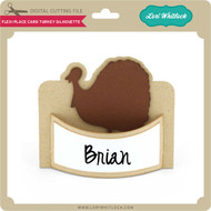 Flexi Place Card Turkey Silhouette