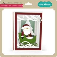 Shadowbox Santa Sitting in Sleigh