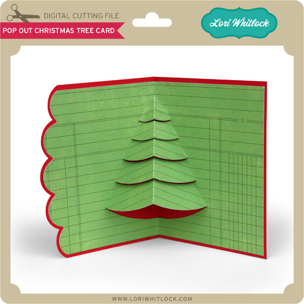 Pop Out Christmas Tree Card Lori Whitlock S Svg Shop