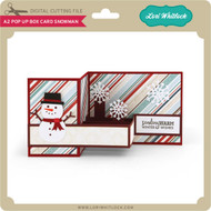 A2 Pop Up Box Card Snowman