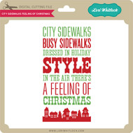 City Sidewalks Feeling of Christmas