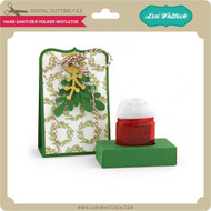 Hand Sanitizer Holder Mistletoe