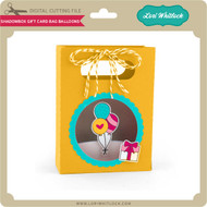 Shadowbox Gift Card Bag Balloons