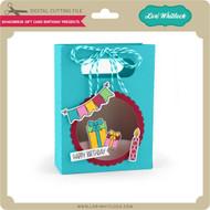 Shadowbox Gift Card Bag Birthday Presents