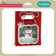 Shadowbox Gift Card Bag Snowman