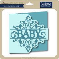 Baby Split Design Card