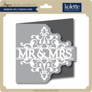Wedding Split Design Card