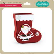 3D Stocking Santa