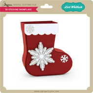 3D Stocking Snowflake