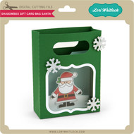 Shadowbox Gift Card Bag Santa