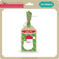 Gift Card Holder Tag Santa Claus