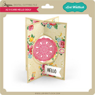 A2 X-Card Hello Doily