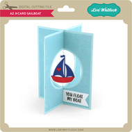 A2 X-Card Sailboat