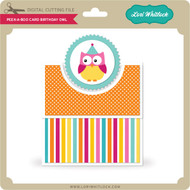 Peek a Boo Card Birthday Owl