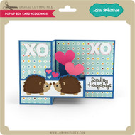 Pop Up Box Card Hedgehogs