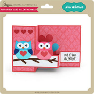 Pop Up Box Card Valentine Owls
