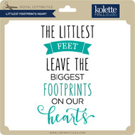 Littlest Footprints Heart