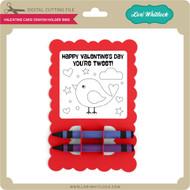 Valentine Card Crayon Holder Bird