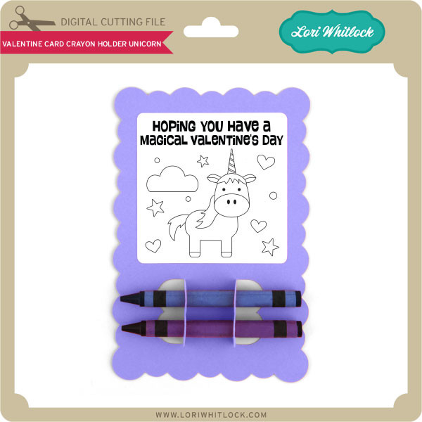 Set of 3 Crayon Holder Designs Svg Dxf Png Pdf Commercial Cut File Children/'s Classroom Valentine/'s Day Card Fits Most Major Crayon Brands