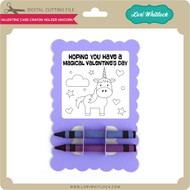 Valentine Card Crayon Holder Unicorn