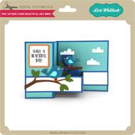 Pop Up Box Card Beautiful Day Bird