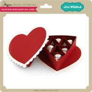 Valentine Kisses Heart Box Large