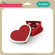 Valentine Kisses Heart Box Small