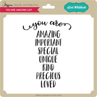 You Are Amazing List