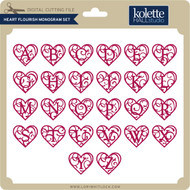 Heart Flourish Monogram Set