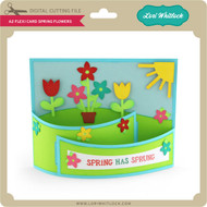 A2 Flexi Card Spring Flowers