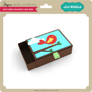 Matchbox Drawer Card Bird
