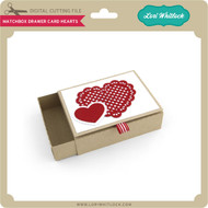 Matchbox Drawer Card Hearts