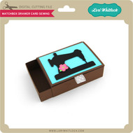 Matchbox Drawer Card Sewing