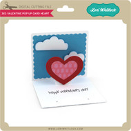 3x3 Valentine Pop Up Card Heart