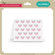 A2 Stacking Card Base Heart