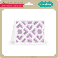 A2 Stacking Card Base Heart 3