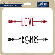 Arrow Love Mr & Mrs