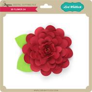 3D Flower 24