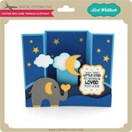 Center Box Card Twinkle Elephant