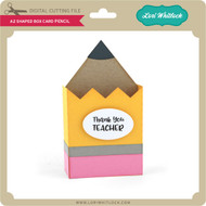 A2 Shaped Box Card Pencil