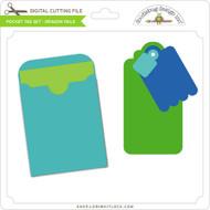 Pocket Tag Set - Dragon Tails