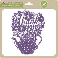 Floral Teapot Thank You
